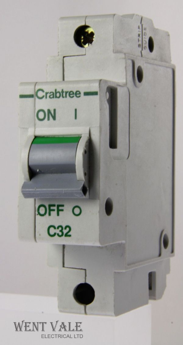 Crabtree Polestar - 60C/32 - 32a Type C Single Pole MCB Used